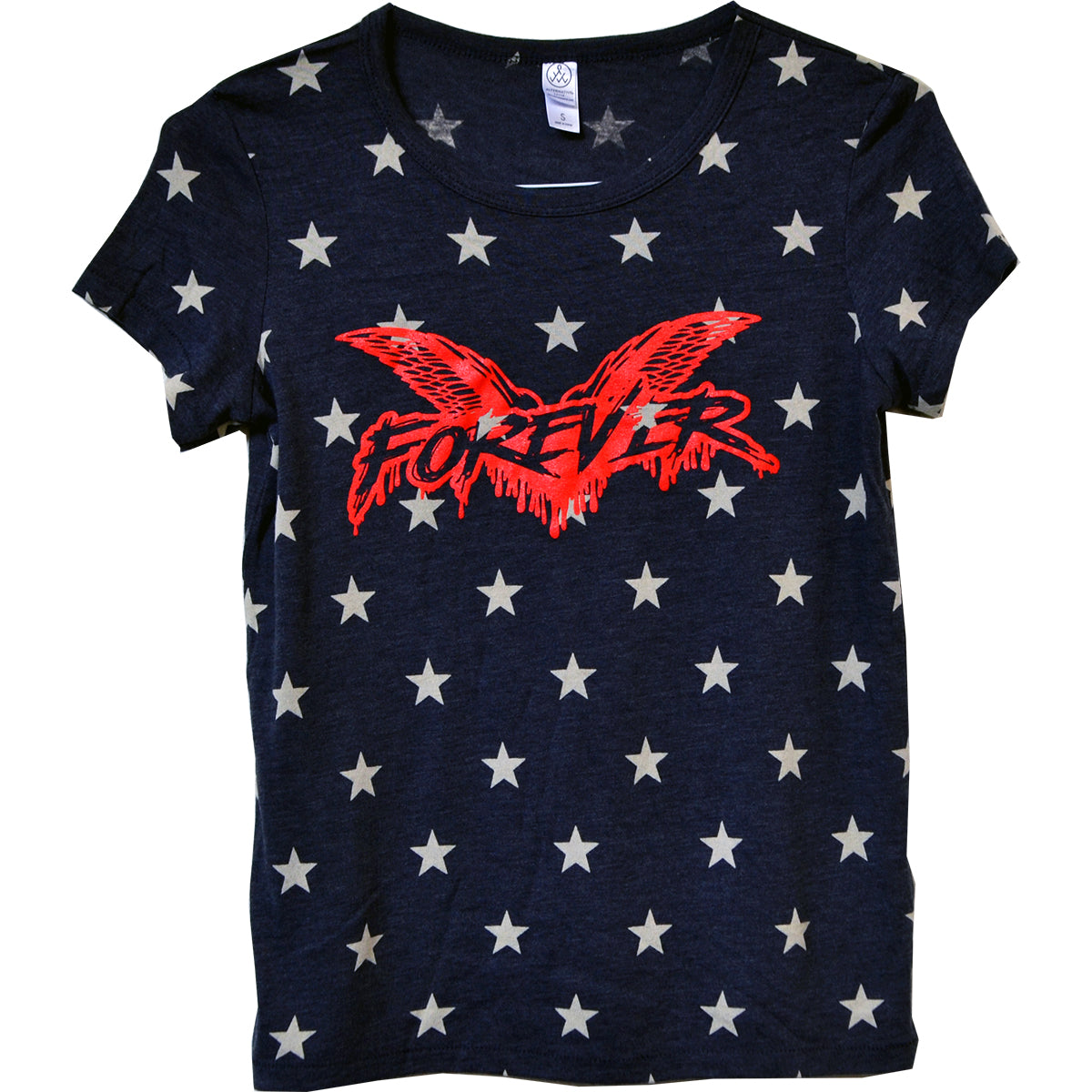Cock Sparrer - Forever - Red on Blue w/ White Stars - T-Shirt - Fitted