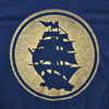 Pirates Press - Circle Logo - Gold on Navy - 15 Year Tag - T-Shirt