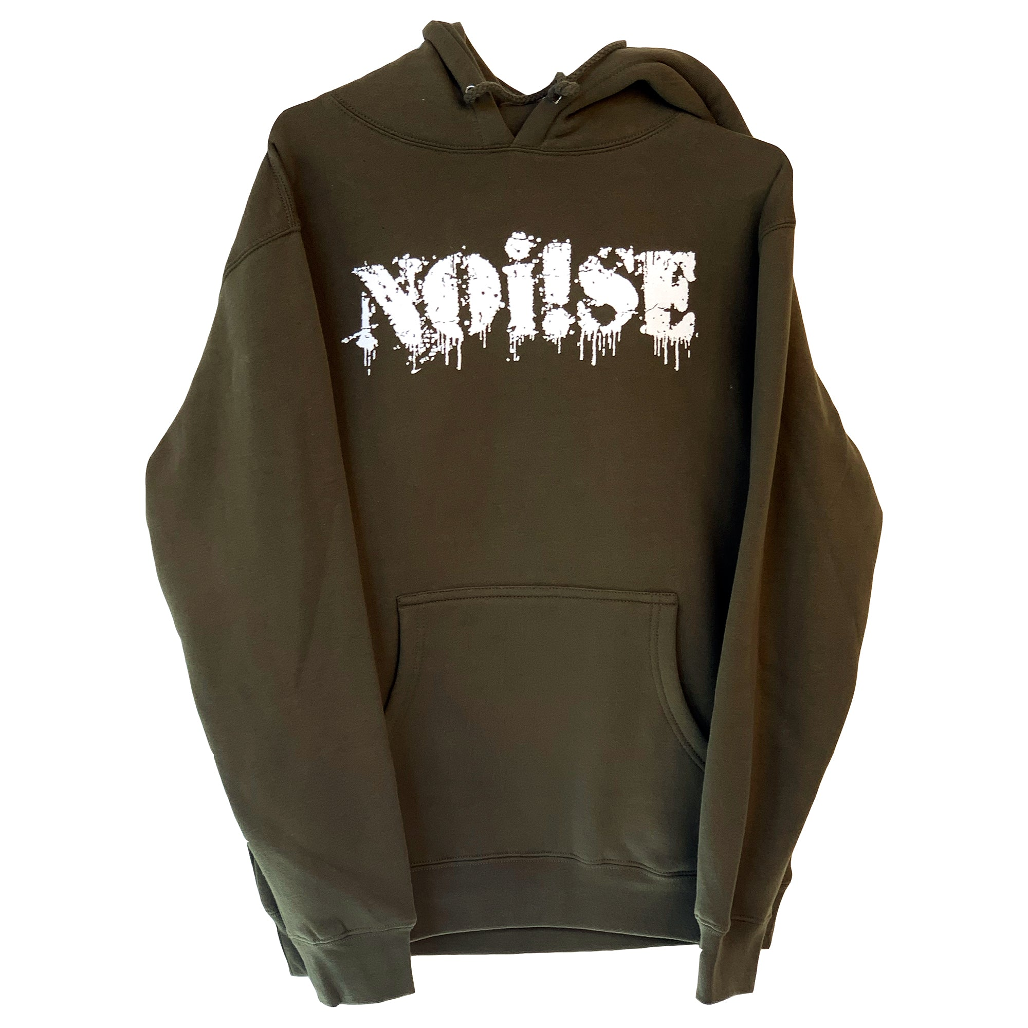 NOi!SE - Logo - White On Green - Hooded Sweatshirt
