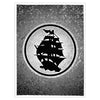 Pirates Press - Circle Logo - Yellow Screenprinted Poster