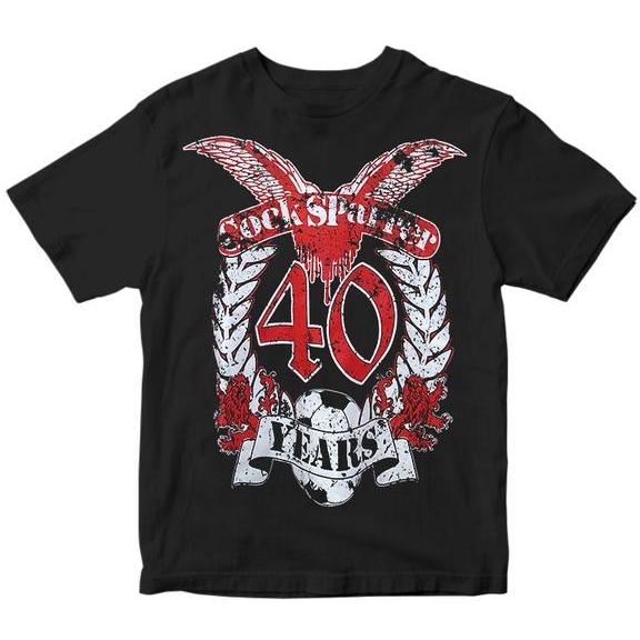 Cock Sparrer - 40 Years - Black - T-Shirt - Youth