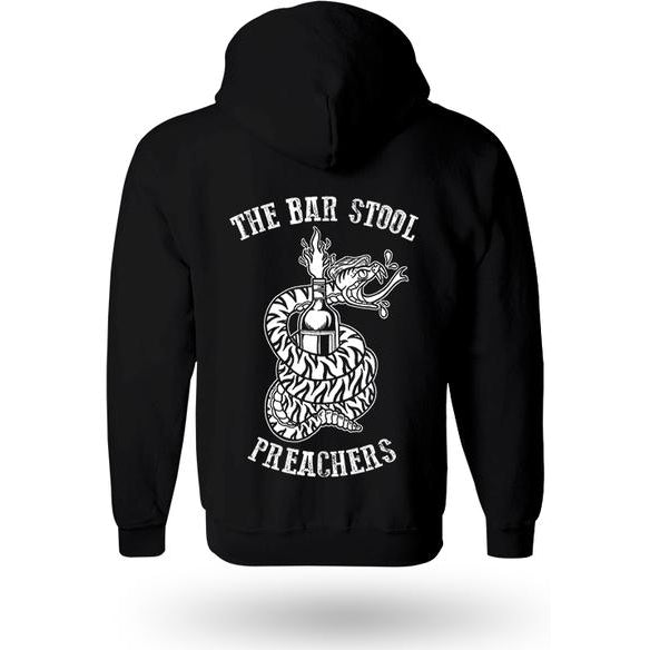 The Bar Stool Preachers - Snake Logo - Black - Zip Hoodie