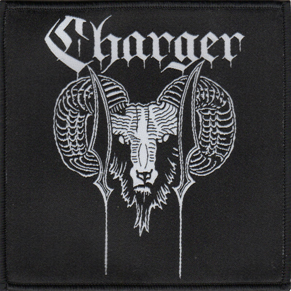 "Charger - Ram - Black - Patch - Woven - 4""x4"""