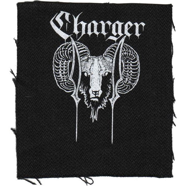 "Charger - Ram - Black - Patch - Cloth - Screened - 4""x4"""