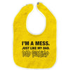 Dad Brains - I'm A Mess - Baby Bib