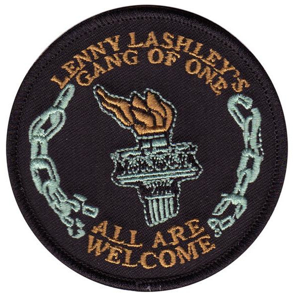 Lenny Lashley Gang of One - All Are Welcome - Circle Torch - Patch - Embroidered - 3""