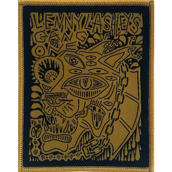 "Lenny Lashley Gang of One - Woodcut - Patch - Woven - 3"" x 3 3/4"""