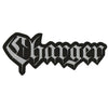 "Charger - Text Logo - 12"" x 4"" Embroidered Patch"