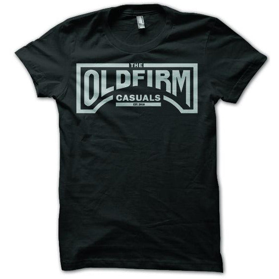 The Old Firm Casuals - Logo - Silver on Black - T-Shirt
