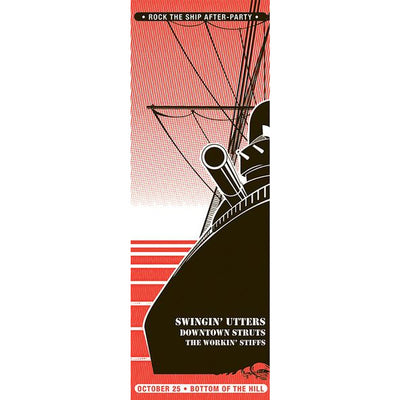 Pirates Press Records - Rock The Ship - Screenprinted Three Poster Bundle