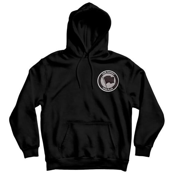 Pirates Press Records - One Family, One Flag - Patch - Pullover Hoodie