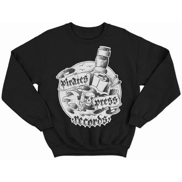 Pirates Press Records - Bottle - Crewneck Sweatshirt