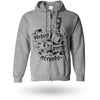 Pirates Press Records - Bottle - Zip-Up Hoodie