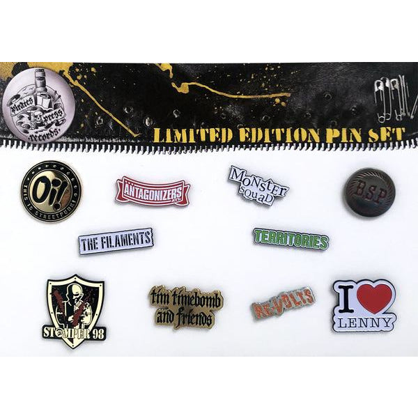 Pirates Press Records Enamel  Pin Set # 4 (BSP, TERRITORIES, TIM TIMEBOMB, ETC)