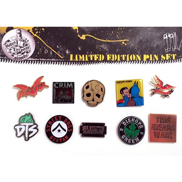 Pirates Press Records Enamel Pin Set #1 (SPARRER, STREET DOGS, DTS, ETC)