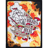 "Pirates Press - Full Color Tattoo Ship - Patch - Woven - 3"" x 4"""