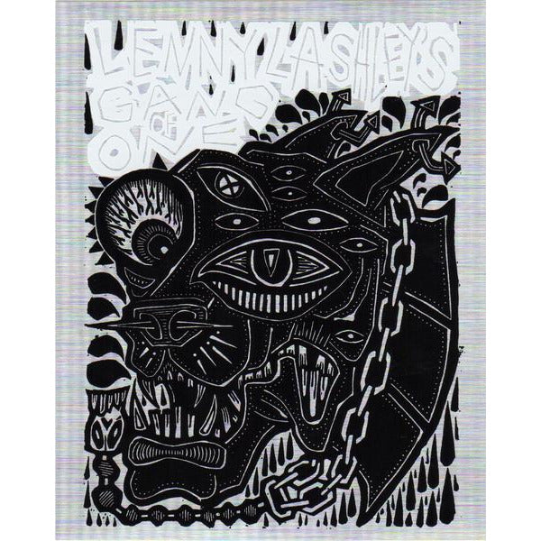 Lenny Lashley Gang of One - Woodcut - Sticker