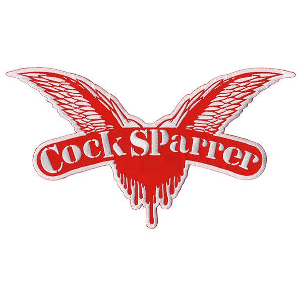"Cock Sparrer - Wings - Red - XL Patch - Embroidered - 12"" x 7.5"