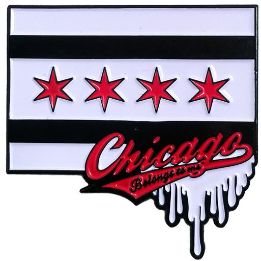"Cock Sparrer - Chicago Flag - 1.5"" Enamel Pin"