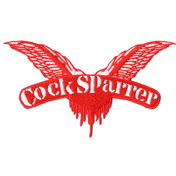 "Cock Sparrer - Wings - Red - Small Patch - Embroidered - 5"" x 3"""