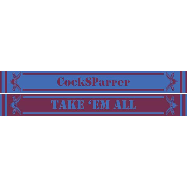 Cock Sparrer - Take 'Em All - Claret & Blue Scarf