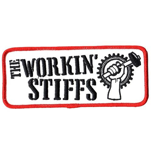 "Workin Stiffs - Logo - Patch - Embroidered - 5 1/4"" x 2 1/4"""