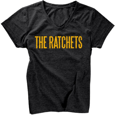 The Ratchets - Skull Logo - V-Neck - T-shirt - Fitted