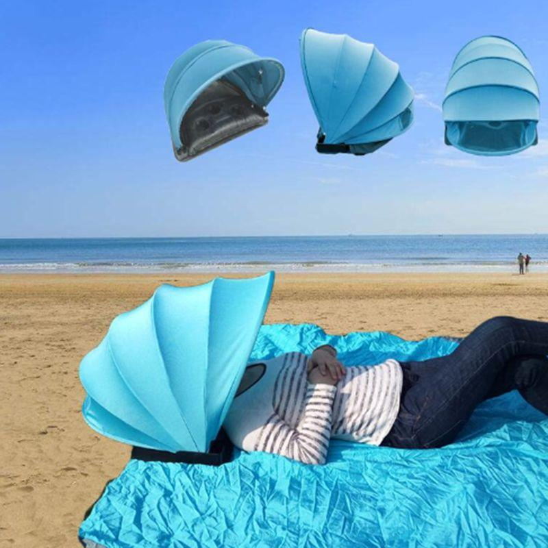 Mini Portable Beach-Face Umbrella