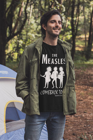 Man wearing The Measles Comeback Tour T-Shirt