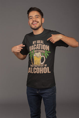 Man wearing Ideal Vacation T-Shirt