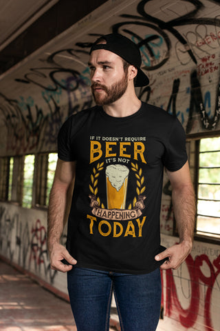 Man Wearing Beer T-Shirt