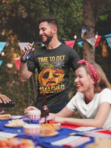 Man wearing Time To Get Smashed T-Shirt