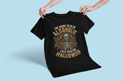 I'm Going To Be An Alcoholic This Year For Halloween T-Shirt