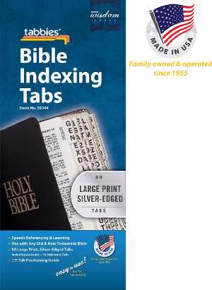 Bible Tab-Large Print O&N Testament-Silver