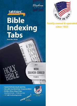 Bible Tab-Mini Tabs O&N Testament-Silver