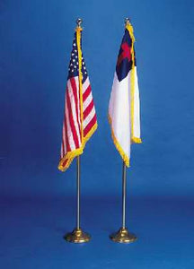 "Flag Set-Christian & American (36"" x 24"")"