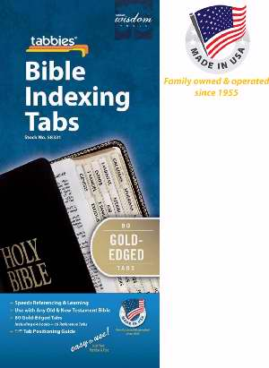 Bible Tab-Standard O&N Testament-Gold