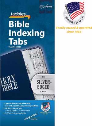 Bible Tab-Standard O&N Testament-Silver