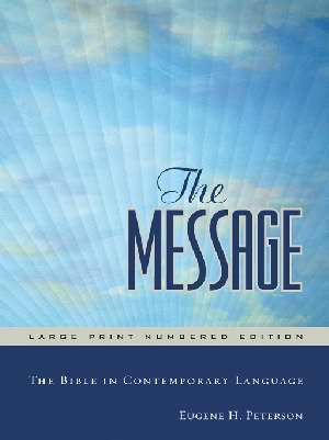 Message/Large Print Bible (Numbered Edition)-Hardcover