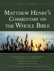 Matthew Henry's Commentary 1V-Complete (Value Price)