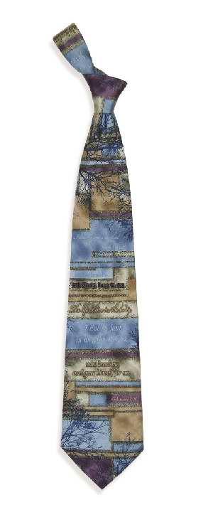 Tie-Crucified With Christ (100% Silk)