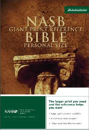NASB Giant Print Reference Bible/Personal Size-Burgundy Bonded Leather