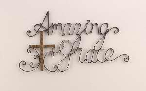 Plaque-Amazing Grace-Metal