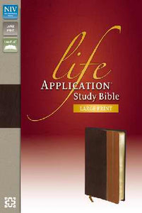 NIV Life Application Study Bible/Large Print-Chocolate/Tan Duo-Tone Indexed