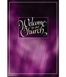 Welcome Folder-Welcome To Our Church (Purple Design)