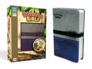 NIV Adventure Bible (Full Color)-Gray/Blue Duo-Tone