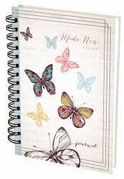 Journal-Wirebound-Made New/Butterflies-Large