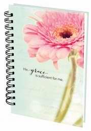 Journal-Wirebound-His Grace/Flowers-Large