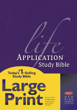 NKJV Life Application Study Bible/Large Print-Hardcover