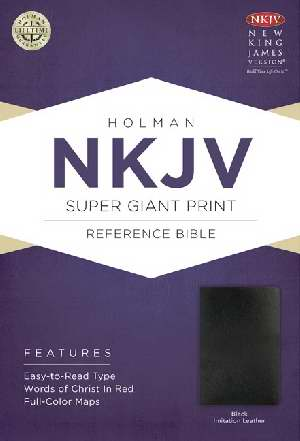NKJV Super Giant Print Reference Bible-Black Imitation Leather